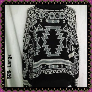 Urban Outfitters BDG Aztec Print Sweater Large